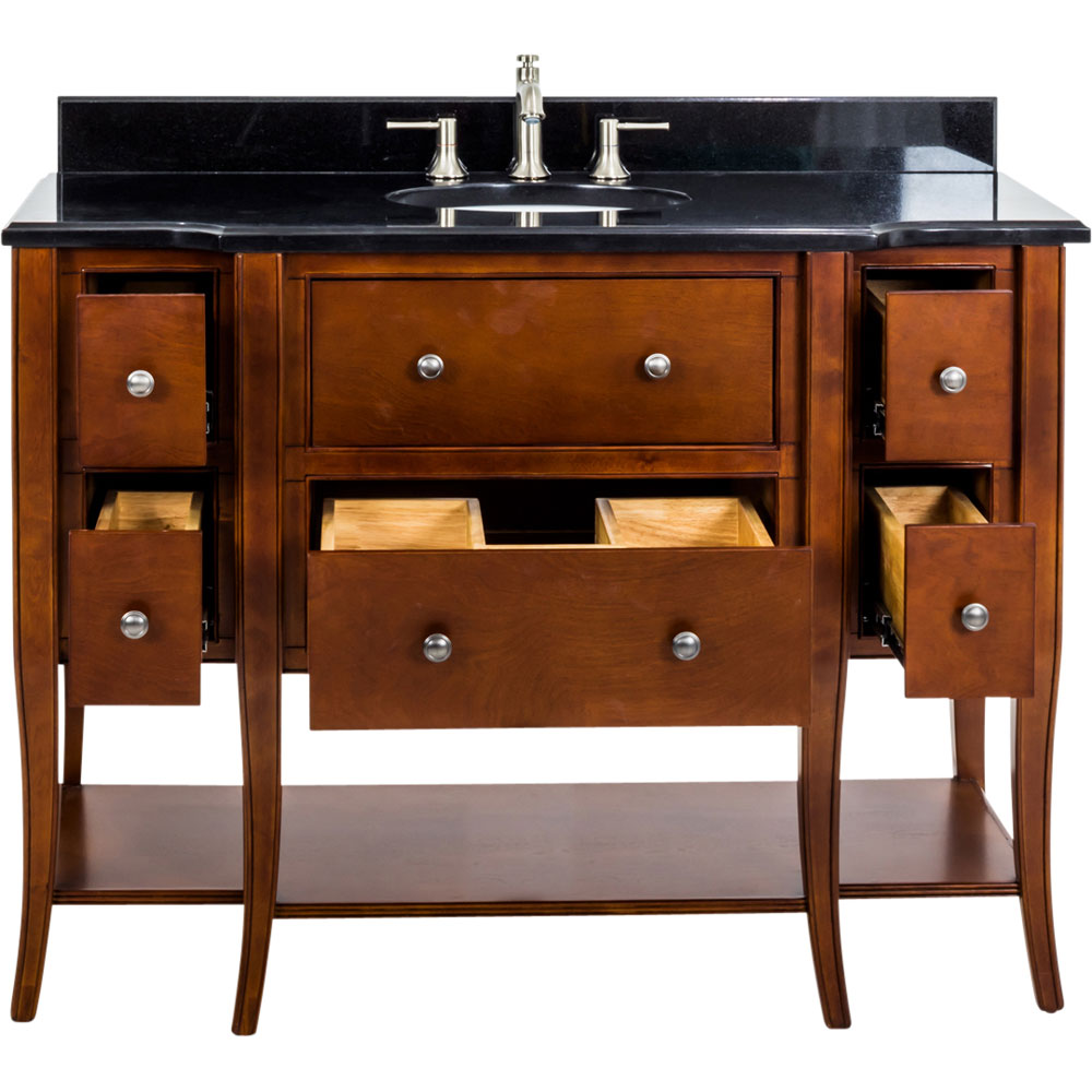 "48"" Philadelphia Classic vanity in Chocolate with top"